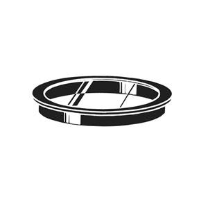 Small  Glass Lens - Black Frame