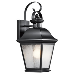 Mount Vernon Black One Light Medium Outdoor Wall Lantern