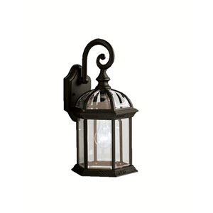 Black Cast Aluminum Outdoor Wall-Mounted Lantern