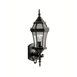 Z Lite Wakefield Black One Light 24 Inch Outdoor Wall