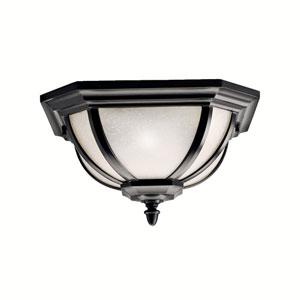 Salisbury Black Outdoor Flush Mount Ceiling Light