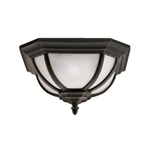 Salisbury Rubbed Bronze Two-Light Outdoor Flush Mount