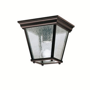 Kirkwood Black Outdoor Flush-Mount Ceiling Light