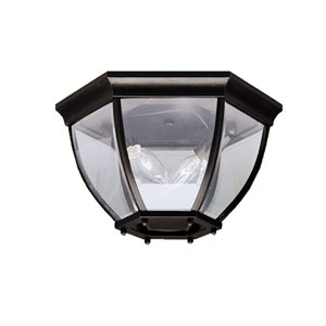 Townhouse Black Outdoor Flush Ceiling Light