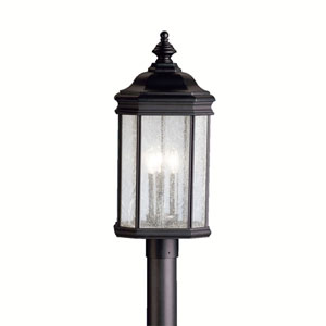 Kirkwood Black Outdoor Post-Mounted Lantern