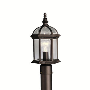Barrie Black 8-Inch LED One-Light Outdoor Post Light