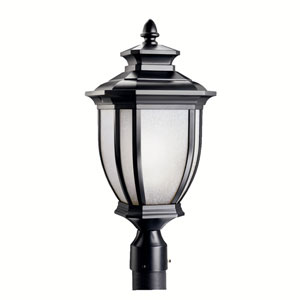 Salisbury Black Outdoor Post-Mount Lantern