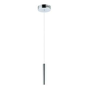 Flute Chrome 23-Inch LED Mini Pendant