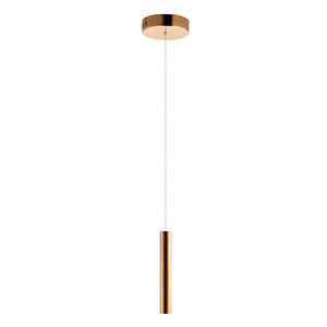 Flute Rose Gold 23-Inch Tall LED Mini Pendant