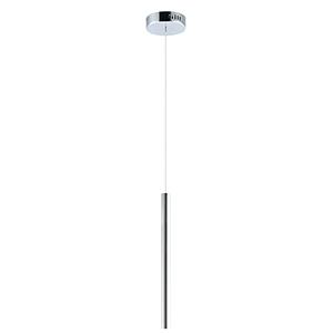Flute Polished Chrome LED Mini Pendant