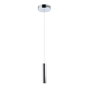 Flute Polished Chrome 12-Inch LED Mini Pendant
