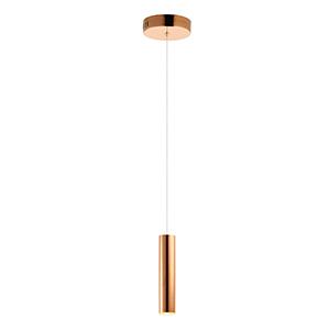 Flute Rose Gold 12-Inch LED Mini Pendant