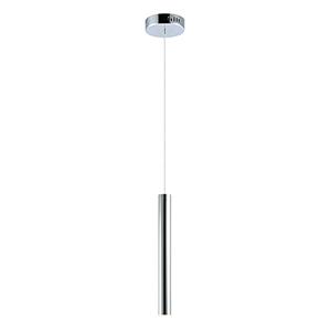 Flute Polished Chrome 23-Inch LED Tall Mini Pendant