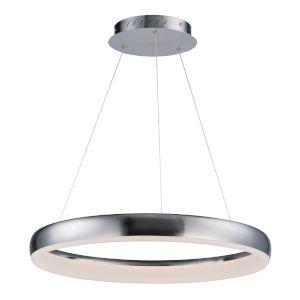 Innertube Satin Nickel 23-Inch One-Light LED Pendant
