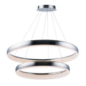 Innertube Satin Nickel 31-Inch Two-Light LED Multi-Light Pendant