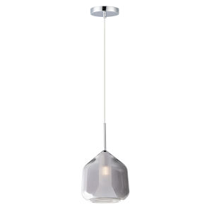 Deuce Polished Chrome One-Light LED Mini Pendant