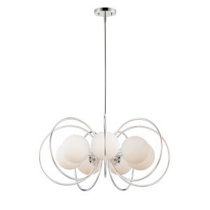 Revolution Polished Nickel 29-Inch Seven-Light Chandelier