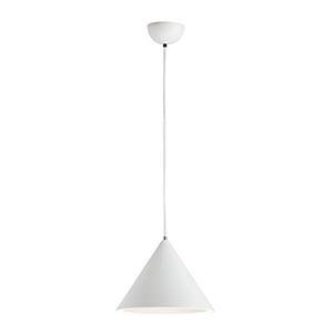 Abyss Matte White LED Single Pendant