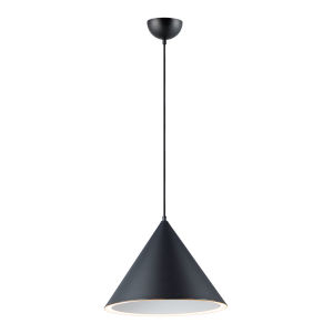 Radar Black One-Light LED Pendant