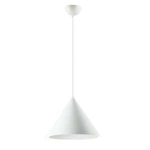 Radar Matte White One-Light LED Single Pendant