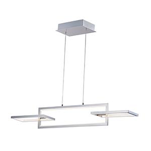 Link Satin Nickel Three-Light LED Single Pendant