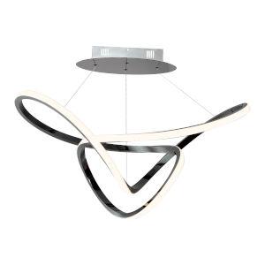 Perpetual Black Chrome 32-Inch LED Pendant