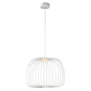 Cage White 19-Inch LED Pendant