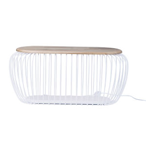 Cage White and Navaho White One-Light LED Cage Floor Lamp