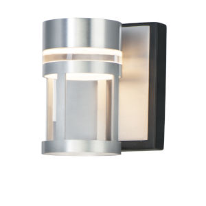 Accord Black And Brushed Aluminum Five-Inch LED Bath Vanity