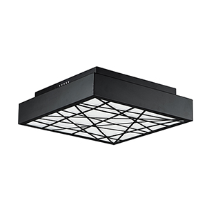Intersect Black 24-Inch LED Flush Mount