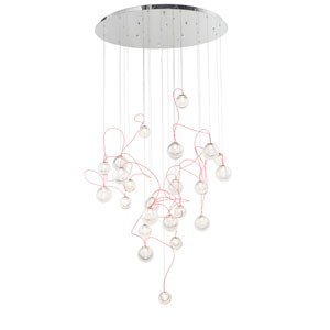Bobble Polished Chrome 24-Light LED Pendant