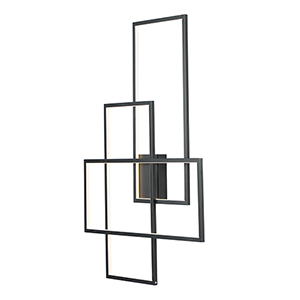 Converge Black LED Wall Sconce ADA