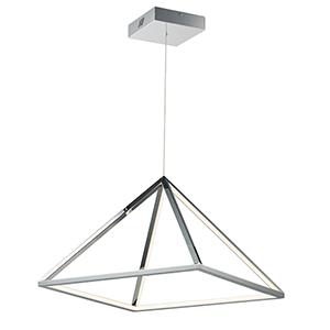 Pyramid Polished Chrome 19-Inch LED Pendant