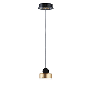 Nob Black and Gold 5-Inch LED Mini Pendant