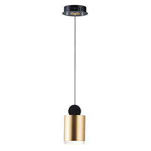 Nob Black and Gold Four-Inch LED Mini Pendant