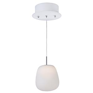 Puffs White Seven-Inch LED Mini Pendant Energy Star