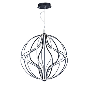 Aura Black 18-Light LED Single Pendant