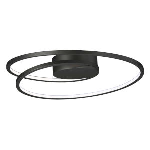 Cycle Black 18-Inch LED Flush Mount