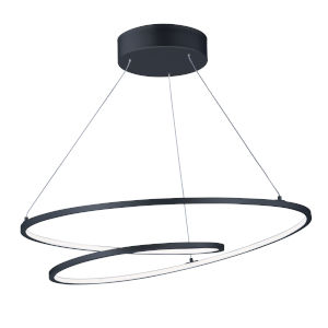 Cycle Black 25-Inch LED Pendant