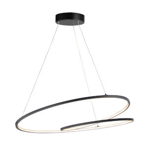 Cycle Black 32-Inch LED Pendant