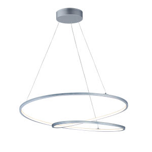 Cycle Matte Silver 32-Inch LED Pendant