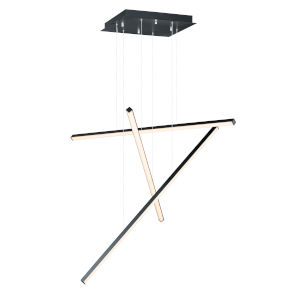 Hover Black 48-Inch Three-Light LED Pendant