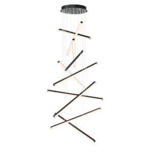 Hover Black Two-Inch 10-Light LED Mini Pendant
