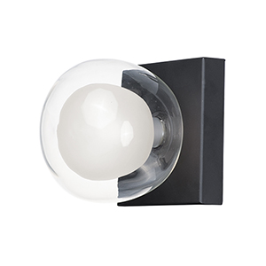 Pod Black LED Wall Sconce