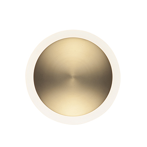 Saucer Black and Gold ADA LED Wall Sconce