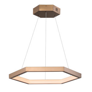 Hex Brushed Champagne 23-Inch One-Light LED Suspension Pendant