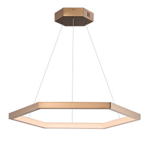 Hex Brushed Champagne 31-Inch One-Light LED Suspension Pendant