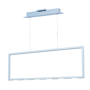 Rhombus Matte White Nine-Light LED Linear Pendant Energy Star