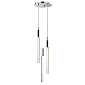Big Fizz Polished Chrome Three-Light LED Pendant