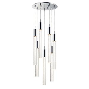Big Fizz Polished Chrome Seven-Light LED Pendant